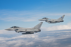 Nice Pair... (Air Frame Photography) Tags: raf flying typoon fighter jets plane brize norton north sea photography airtoair farmoor airtanker hose pilot
