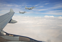 First pair....... (Air Frame Photography) Tags: raf flying typoon fighter jets plane brize norton north sea photography airtoair farmoor airtanker hose pilot