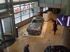 007 Crashes SOTHEBY'S NYC  foyer ............ (bike-R) Tags: 007 bond james db5 martin aston goldfinger sothebys