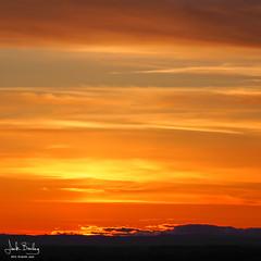 Sky on Fire (Eclectic Jack) Tags: blue sunset sky panorama orange cloud sun color colour colors beautiful clouds point landscape evening washington twilight colorful view dusk horizon viewpoint treescape pinnacle camas