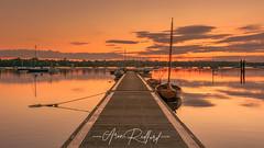 Pin Mill Dawn Jetty (Aron Radford Photography) Tags: pin mill pinmill suffolk dawn jetty boat water river orwell creek estuary sunrise