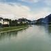 Salzburg bei der Bahnüberquerung der Salzach