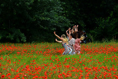 Champs de coquelicots France_0048 (ichauvel) Tags: coquelicots poppies femmes women jeunesfemmes youngwomen samuser joie happiness sauter jump printemps spring champs field beautédelanature beautyofnature saintaygulf var provencealpescôtedazur europe westerneurope exterieur outside