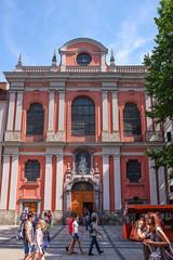 Outside Bürgersaalkirche (timnutt) Tags: x100t munchen street people fuji bavaria munich city x100 fujifilm germany