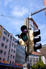 Equal rights traffic lights in Glockenbachviertel (timnutt) Tags: x100t munchen street fuji bavaria munich city x100 fujifilm germany