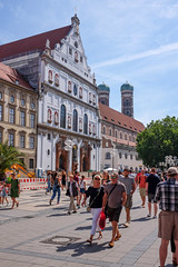 Outside St. Michael Kirche (timnutt) Tags: x100t munchen street people fuji bavaria munich city x100 fujifilm germany