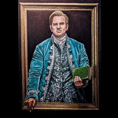 """""""Keith Hines,Jr as Thomas Jefferson in '1776'"""" By Diane Betz Granger #coloredpencil on black pastel paper. Reference photo: philip_hamer_photography (dbg431) Tags: coloredpencil"""