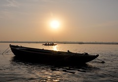 Boats & Photographers (The Spirit of the World ( On and Off)) Tags: gangesriver ganges holy holyriver india varanasi boats sunrise sun sunlight rowboat peaceful spiritual rajasthan silhouettes magical mood atmosphere