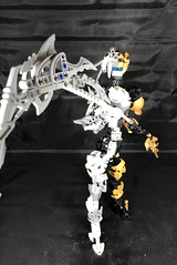 """Ugh, this thing's heavy"" (Elemental Hero Shadow) Tags: lego bionicle moc reaper scythe"