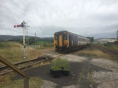 Cumbrian Countryside (leonrussell11081) Tags: england northern northernrail train oldsignals semaphoresignals uk railway foxfield class156 cumbriancoastline cumbriancoast