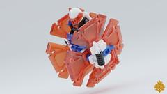 Ice Planet Bipennis Speeder (Umbra-Manis) Tags: space lego lsb moc mecabricks iceplanet speeder