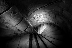 Abbaye de Saint Savin, France (pas le matin) Tags: bw nb monochrome noiretblanc blackandwhite stairs escalier light lumière travel voyage world france europe church église saintsavin abbaye window fenêtre poitiers poitoucharentes canon canon5d canon5dmkiii canoneos5dmkiii eos5dmkiii 5dmkiii 5d