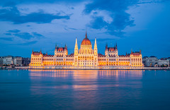 The parliament at blue hour (Vagelis Pikoulas) Tags: parliament blue hungary hour longexposure budapest pest architecture light travel city cityscape landscape urban danube river summer june 2019 reflection reflections view canon 6d tokina 2470mm