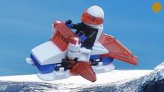 Ice Planet Securis Speeder (Umbra-Manis) Tags: space lego lsb moc mecabricks iceplanet speeder