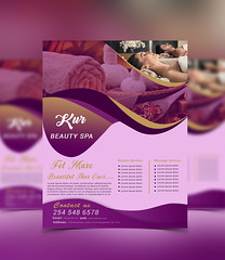 Spa / Beauty Flyer Template (eliyasali620) Tags: advertising artist beauty beautycenter beautyshop business clinic cosmetics fashion flexible glamorous gray grey hairsalon hairstylist hairdresser makeu