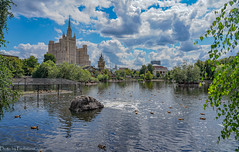 Summer in Moscow / Московское лето (Vladimir Zhdanov) Tags: summer july russia moscow building architecture city pond water sky cloud tree foliage birds duck