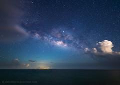 The Miky Way of the Caribbean (josefrancisco.salgado) Tags: 14mmf18dghsmart antillasmayores atlanticocean caribbeansea d5 greaterantilles lavíaláctea marcaribe nikon océanoatlántico puertoferro puertorico sigma themilkyway vieques westindies astrofotografía astronomy astronomía astrophotography cloud clouds mar night nube nubes ocean océano sea