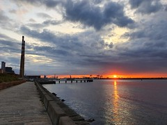 Dublin Bay (CatMacBride) Tags: dublin port ireland sunset evening mobile