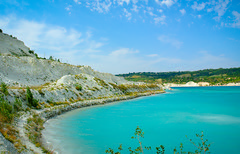 Marl Quarry in Amvrosievka. (denkuznets81) Tags: quarry marl water pond blue summer sky landscape donbass beautiful донбасс амвросиевка карьер вода водоем пруд лето