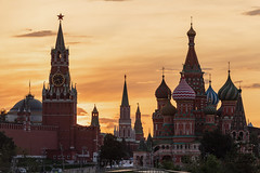 Red Square (gubanov77) Tags: moscow russia sunset city cityscape goldenhour architecture moscowkremlin moscowphotography saintbasilscathedral redsquare zaryadyepark zaryadye church