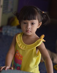 cute girl (the foreign photographer - ฝรั่งถ่) Tags: cute girl child yellow dress khlong thanon portraits bangkhen bangkok thailand nikon d3200