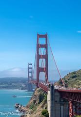 Golden Gate Bridge, San Francisco (farajalhattab) Tags: goldengatebridge sanfrancisco landscape nikon d7200 bridge water boat cars trees mountain