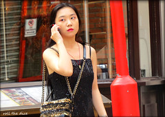 `2811 (roll the dice) Tags: london westminster w1 westend gay redlight chinatown streetphotography surreal reaction sad mad fun funny happy smile people colour fashion shops shopping canon tourism tourists hot sunny weather portrait candid strangers uk classic art pretty sexy girls natural urban unaware unknown england culture asian soho chinese mobile phone talk blur eyes face dress glamour angry