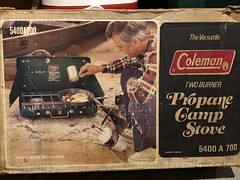 The Box My Family's Camp Stove Lives In (amyboemig) Tags: camping july summer vintage box coleman camp stove