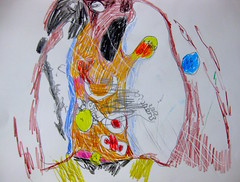 Getting Laid Off From A Mail Processing Facility In The Early 90s (giveawayboy) Tags: abstract art pencil tampa sketch artist drawing expressionism crayon coloredpencil fch giveawayboy billrogers