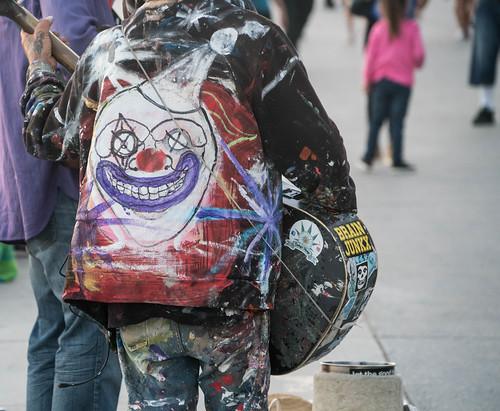 Street Musician Clown Jacket - Venice Beach, California
