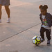 Little Girl Playing Soccer - Venice Beach, California