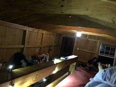Bed Time From The Bunkbed In Our Cabin (amyboemig) Tags: bowman lake state park friends sparkies camping july summer cabin interior ny
