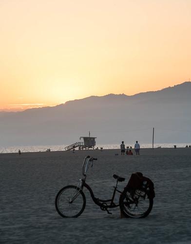 Bicycle at Sunset - Venice Beach, California