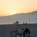 Bicycle at Sunset - Venice Beach, California