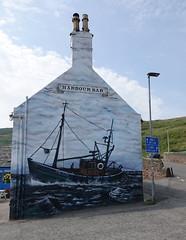 Harbour Inn, Gourdon (Ian Robin Jackson) Tags: aberdeenshire gourdon scotland pub wallart art ship interesting sony zeiss fishing summer gb bars