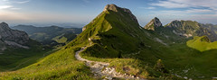 Panoramic view towards Gantrisch & Co. (David M. Stucki) Tags: david manuel stucki schweiz switzerland canon canoneos5dmarkiv ef1635mm f28l iii usm mountain berge berg natur outside nature new neu naturpark day light licht view ausblick landschaft landscape grün green gantrisch naturparkgantrisch hike wandern ausflug trip bern oberland schön beautiful atmosphere stimmung panorama ef1635mmf28liiiusm