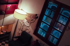 Potato Head, Singapore (Plan R) Tags: bar restaurant potatohead mural rabbit lamp window chair leica m 240 noctilux 50mm