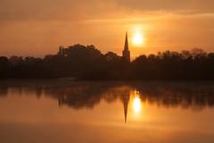 Mid-May Sunrise at Attenborough (Julian Barker) Tags: attenborough nature reserve nottingham nottinghamshire east midlands england uk europe sun sunrise dawn church silhouette lake pond morning canon dslr 5d mkii julian barker