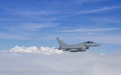 11 Squardon Typhoon... (Air Frame Photography) Tags: raf flying typoon fighter jets plane brize norton north sea photography airtoair farmoor airtanker hose pilot