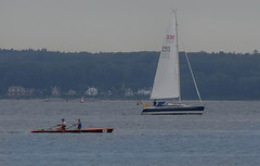 Two boats (frankmh) Tags: yacht sailboat rowing rower rowingboat öresund