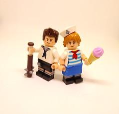 Scoops Ahoy (Barratosh#2) Tags: stranger things robin steve harrington 80s nostalgia ice cream lego minifigure netflix