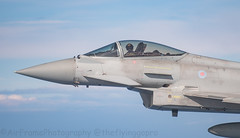 ZJ929 on the wing tip. (Air Frame Photography) Tags: raf flying typoon fighter jets plane brize norton north sea photography airtoair farmoor airtanker hose pilot
