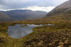 Lochan and Mountains (steve_whitmarsh) Tags: aberdeenshire scotland scottishhighlands highlands landscape mountain hills water loch topic
