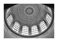 An ornate skylight (PeteZab) Tags: windows skylight circle ornate stately pattern blackandwhite bw mono peterzabulis