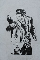 IMG_1527 rue Notre Dame des Champs Paris 06 (meuh1246) Tags: streetart paris ruenotredamedeschamps paris06 lebaiserdelhôteldeville robertdoisneau couple baiser