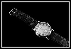 Classic Watch (jose_miguel) Tags: jose miguel españa spain espagne panasoniclumixfz50 reloj watch horloge clásico classic classique byn bw nb metal métal cuero leather cuir rigotag