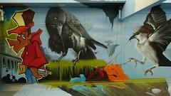 Nog even op Kijkduin geweest (José D...) Tags: graffitiproject streetart graffiti street art thehaguestreetart jillmartens zest patrickadrenaline jesse björn kijkduin