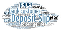 Deposit Slip (Ben Taylor55) Tags: deposit slip banking customer information account paper cash checks bank tags tag words tagcloud wordcloud