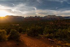 Sunset in Sedona (Laveen Photography (aka cyclist451)) Tags: az arizona douglaslsmith laveenphotography naturallight phoenix ambientlight sedona unitedstatesofamerica sunset redrocks