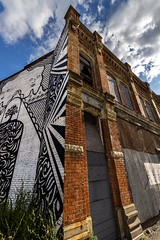 Somewhere along Michigan Ave. (rick miller foto) Tags: 1635 eosr canon wideangle murals streetart buildings architecture abandoned usa michigan detroit